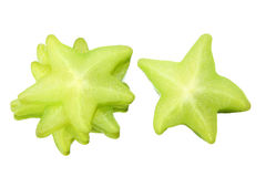 Slices of Star Fruit Royalty Free Stock Images