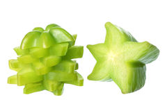 Slices of Star Fruit Stock Photography