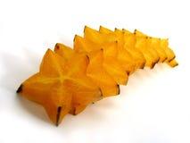 Slices of starfruit Stock Photos