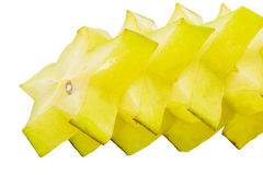Slices of Starfruit I Stock Images