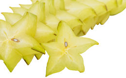 Slices of Starfruit II Stock Images