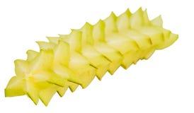 Slices of Starfruit V Royalty Free Stock Photos