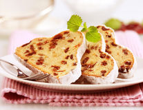 Slices of stollen royalty free stock photos