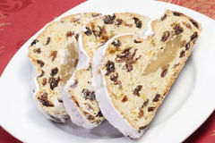 Slices of Stollen Royalty Free Stock Image