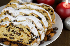 Slices of Stollen Cake Royalty Free Stock Images