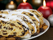 Slices of Stollen Cake Stock Photo