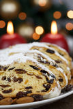 Slices of Stollen Cake Royalty Free Stock Photos