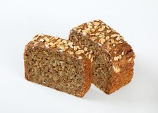Slices of sunflower bread Royalty Free Stock Photography