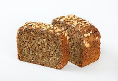 Slices of sunflower bread Stock Photography