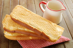 Slices of sweet bread Royalty Free Stock Photo