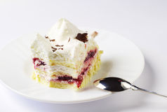 Slices of sweet cake on a plate Stock Photography