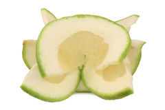 Slices of sweet green Pomelo (grapefruit) Royalty Free Stock Photos