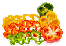 Slices of sweet pepper Royalty Free Stock Image