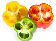 Slices of sweet pepper Royalty Free Stock Images