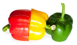 Slices of sweet pepper Royalty Free Stock Photo