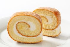 Slices of Swiss roll Royalty Free Stock Photo