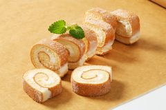 Slices of Swiss roll Royalty Free Stock Image