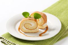 Slices of Swiss roll Stock Image