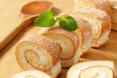 Slices of Swiss roll Royalty Free Stock Photography