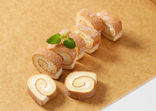 Slices of Swiss roll Stock Images