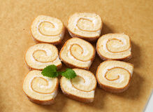 Slices of Swiss roll Royalty Free Stock Photos