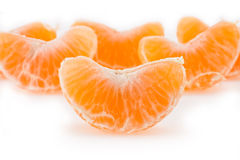 Slices of a tangerine Royalty Free Stock Photos