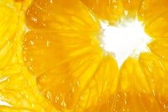 Slices of tangerine (macro) Royalty Free Stock Photos