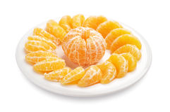 Slices of tangerine Stock Photo
