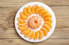 Slices of tangerine Stock Photography