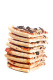 Slices of tasty Italian pizza stacked Stock Images