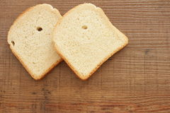 Slices of toast bread royalty free stock images