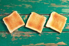 Slices of toast bread royalty free stock image