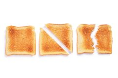 Slices of toast bread stock image