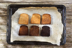 Slices of toast Stock Photography