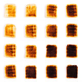 Slices of toast on a white background Royalty Free Stock Photos