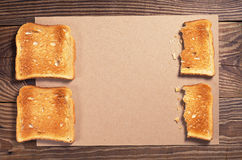 Slices of toasted bread Royalty Free Stock Photos