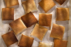 Slices of toasted bread Royalty Free Stock Images