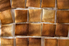 Slices of toasted bread Stock Photography
