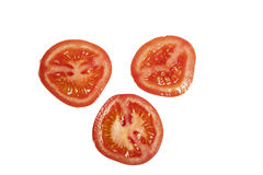 Slices of tomato isolated. Slices of tomato on a white background isolated Stock Images
