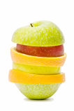 Slices of various fruits Royalty Free Stock Photos