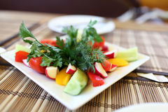 Slices of various vegetables Stock Photography