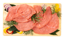 Slices of veal Royalty Free Stock Photos