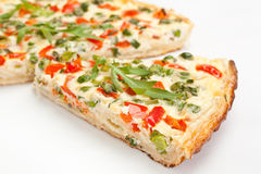 Slices of Vegetable Quiche Royalty Free Stock Photo