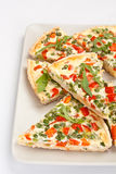 Slices of Vegetable Quiche stock photos