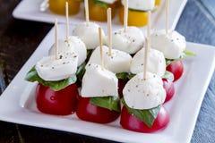 Slices of vine ripe tomato varieties Stock Image