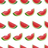 Slices of water melon background pattern stock illustration
