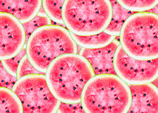 Slices of watermelon background. Stock Photo