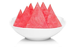 Slices of watermelon in a dish Stock Image