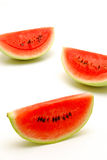 Slices of watermelon isolated Stock Photos