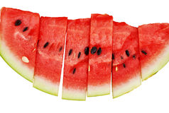 Slices of Watermelon Isolated Stock Image